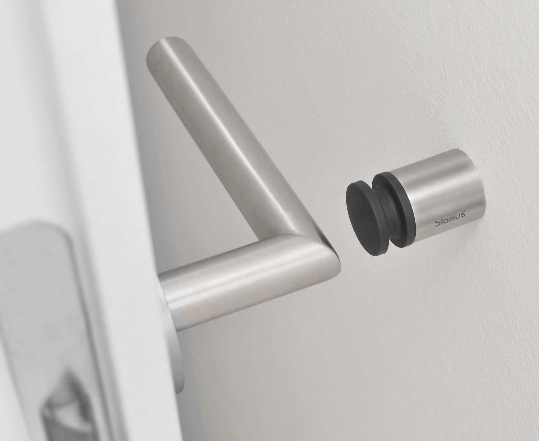 Wall Mounted Door Stop.Blomus 4 Cm Stainless Steel Plastic Entra Wall Mounted Door Stop
