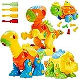 Buyger Jeux de Construction pour Enfants 3 + Ans, Jouet Démontage 3 Dinosaure et 1 Tortue Figurine, Cadeau Educatif pour Garc