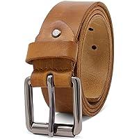 ROYALZ Vintage Cintura Uomo in robusta pelle di bufalo 4 mm, Cintura per Jeans con fibbia ad ardiglione antico…