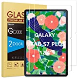 SPARIN Protector de Pantalla Compatible con Samsung Galaxy Tab S7 Plus, Cristal Templado de 12.4 Pulgadas, Compatible con S P