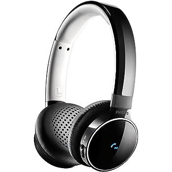 Philips SHB9150BK Casque Audio Bluetooth sans fil ou avec Câble Jack Inclus, Android, iOS, avec Micro, Confortable et Léger, Noir