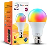 wipro 9-Watt B22 WiFi Smart LED Bulb with Music Sync (16 Million Colours + Warm White/Neutral White/White) (Compatible with A