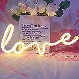 Neon Art Love Signs Light LED Love Kids Regalo-Decorativo Segno per tendone per Wall Room Festa di Nozze Bar Pub Hotel Spiagg