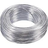 NBEADS 1 rol aluminiumdraad zilver voor sieraden, modelleren, armaturen en beeldhouwwerk - 2mm x 55m (diameter x lengte)