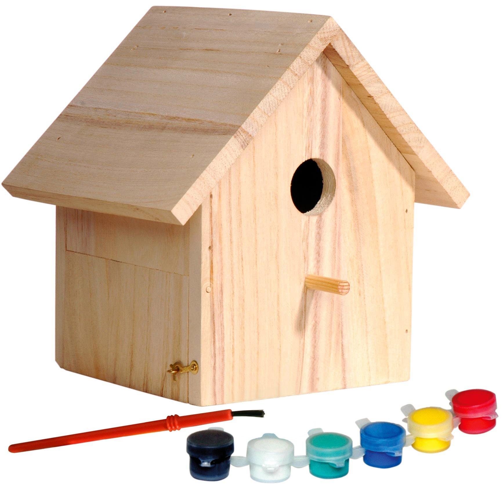 dobar 22368FSC, casetta Decorativa per Uccelli in Legno di Abete Rosso Certificato FSC, Set Artigianale per Bambini per…