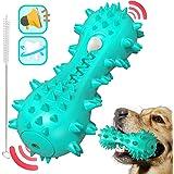 Rmolitty Spazzolino per Cani, Giochi da Masticare Cani, Giochi con Squeak, Giocattolo da Masticare in Gomma Non Tossica per P