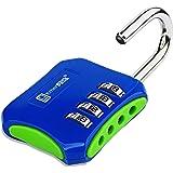 Hangslot met cijfercode 4 cijfers voor kluisjes, sport, school- of fitnessstudio, buitendeur/veiligheidsslot zonder sleutel,