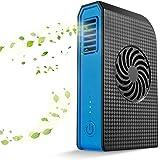 Kleine draagbare ventilator, werkt op batterijen, mini-USB-handheld ventilator, oplaadbaar met 6000 mAh powerbank, tafelventi