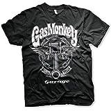 Gas Monkey Garage Officially Licensed - Big Piston T-Shirt Camiseta T Shirt GMG - 100% Oficial
