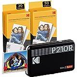 Kodak Mini 2, stampante portatile Bluetooth, stampante fotografica di piccole 54 x 86 mm, 68 fogli, connessione wireless, com