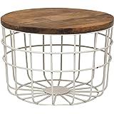 Priti Metal & Wooden top Coffee Table