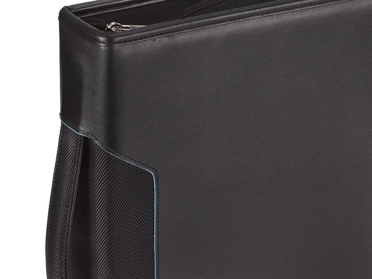 a basso costo 54173 ae1a5 Cartella portadocumenti, formato A4, con meccanismo ad anelli da 20 mm,  tasca per tablet e manico con 100 buste trasparenti