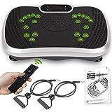 Fitness Trilplaat voor thuis - Elektrische vibration plate met 6 programma's en 99 niveaus - Inclusief weerstandsbanden en af