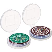 Toyshine Standard Size Carrom Tournament Striker with Excellent Re-Bounce, Pack of 3 (Color and Design May Vary as Per…