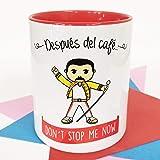 La Mente es Maravillosa - Taza con Frase y dibujo. Regalo original y gracioso (Después del café. Don´t stop me now) Taza Quen