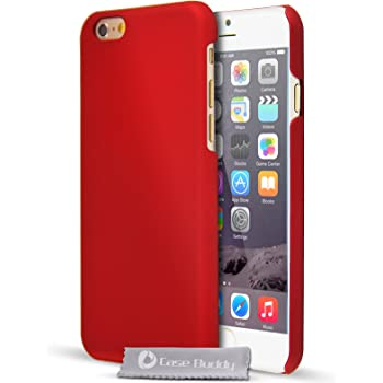 newest collection 68c66 64cb8 Red iPhone 6S Case, Thin Hybrid Matte Hard Case and Screen Protector for  iPhone 6S and iPhone 6 Cover [4.7