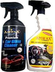 Amwax Vinyl Leather and Dashboard Polish 500ml (Free Car Glass Cleaner 500 ML)