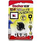 Fischer 518168 zwarte zelfklevende muursteunen - Pack van 8