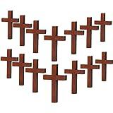 70 Pezzi Ciondoli Croce di Legno Fai Da Te Croce Fascino Naturale Croce di Legno Artigianato per Feste Fai-Da-Te Progetti di