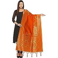KANCHNAR Girl's Kora Silk Dupatta