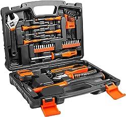Werkzeugsatz, TACKLIFE Multi Haushalt Werkzeugkoffer 42Pcs, Inkl. Hammer, Schraubendreher, Innensechskantschlüssel uzw, Perfekt für alle DIY anfallenden Arbeiten rund um Haus -HHK1A