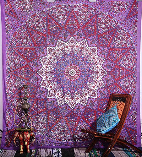 indian-hippie-bohemian-psychedelic-prismatic-star-mandala-wall-hanging-tapestry-purple-pink-queen-si