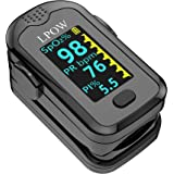 Saturimetro da dito, Monitor della Saturazione di Ossigeno nel Sangue per Frequenza del Polso, Monitor della Frequenza Cardia