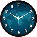 JaipurCrafts Plastic Wall Clock (Black, Blue , 2 X 12 X 12 Inch)