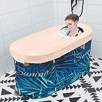 HUKOER Baignoire portable pliable pour adulte et bébé, baignoire circulaire pour douche, salle de bain familiale, spa…