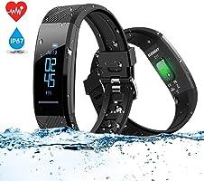 ELEGIANT Pulsera de Actividad Inteligente Reloj Deportivo IP67 para Hombre Mujer con GPS Monitor de Sueño Podómetro...