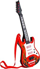 Tickles Red Rockband Musical Instrument Guitar Toy for Kids Boys 46 cm AT-ET017