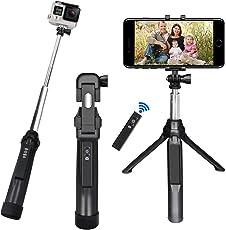 """Bastone Selfie, Peyou[3 in 1] Bastone Selfie Stick Bluetooth Estendibile Monopiede Tenuto a Mano Supporto Treppiedi Otturatore a Telecomando Rimovibile fino ai 35.4"""" per Gopro Camera, per iPhone X 8/8 Plus 7/7Plus 6s/6s Plus 6/6 Plus e per Samsung Galaxy S8/S8 Plus S7/S7 Edge e smartphone sotto i 6""""(Nero)"""