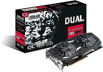 ASUS Dual RX580 O8G Gaming Grafikkarte (Radeon, PCIe 3.0, 8GB DDR5 Speicher, HDMI, DisplayPort, DVI)