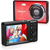 "Heegomn - Cámara Digital para Principiantes, 12 MP/720P HD, Pantalla de 2,8"", Zoom Digital 8X, Mini cámara fotográfica, para"