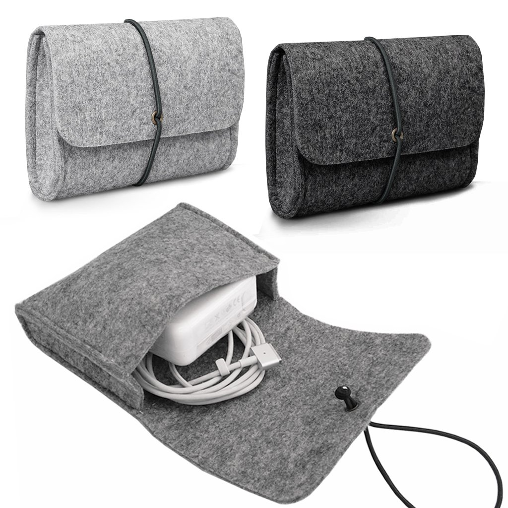 LOVE MY CASE MacBook CHARGER MOUSE Felt Sleeve Carrying Case Cover Bag LIGHT GREY Suitable For Pro Air Retina 11 Inch 12 13