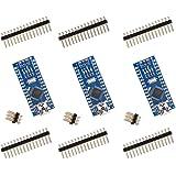 ELEGOO Nano Placa CH340/AT Mega Compatible con Arduino IDE Proyecto Nano (Paquete de 3)