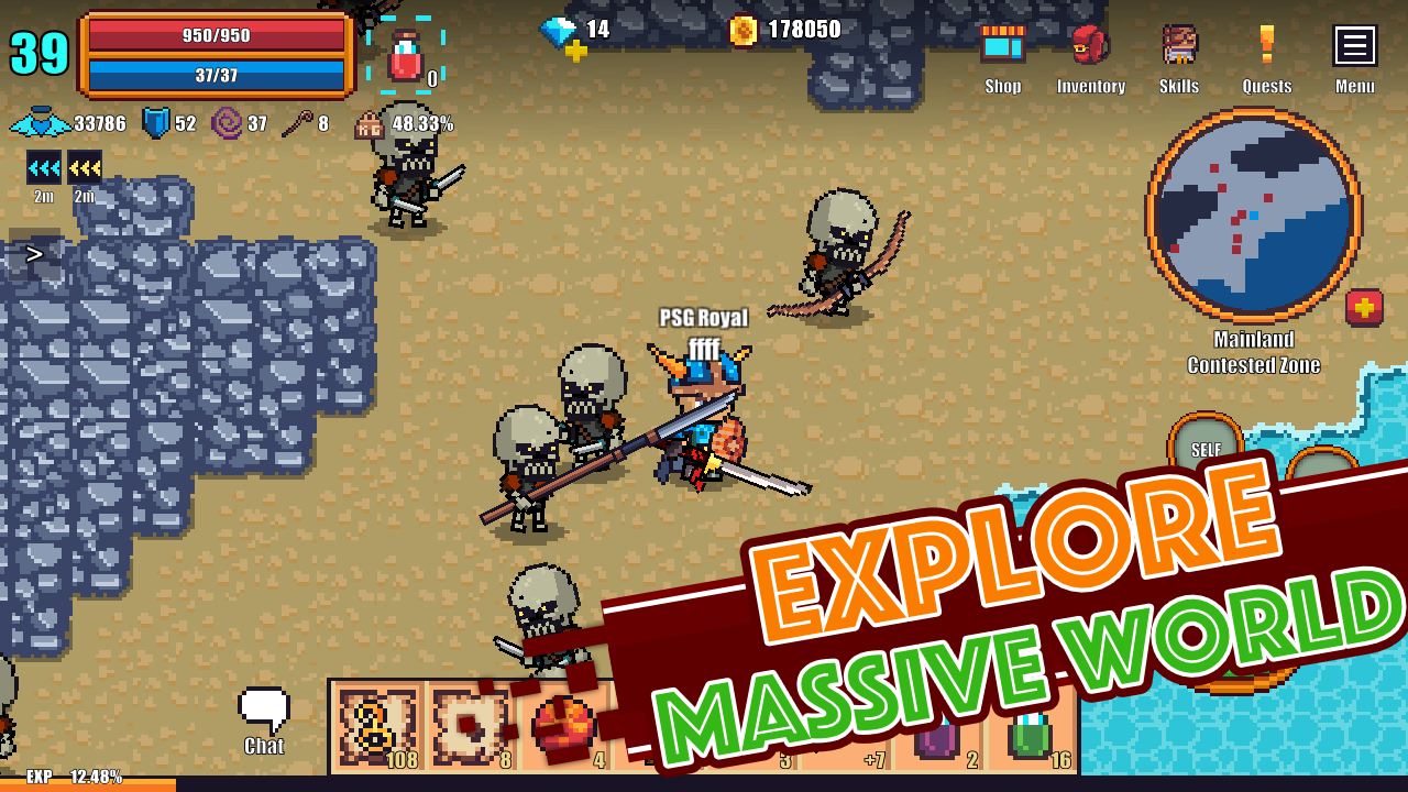 Pixel Knights Online 2d Mmorpg Mmo Rpg Amazon In Appstore For Android