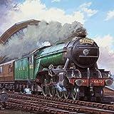 Flying Scotsman Locomotion Train Greeting Sound Card