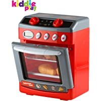 Kiddie Play Pretend Play Electronic Toy Oven with Play Food for Kids