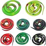liuer Grapartikelen Slangenspeelgoed 8 stuks Realistische rubberen slangen Rubberen slangen Speelgoed voor Tricky April Fool'