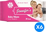 Jennifer's Baby Wipes 30's 3+3