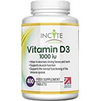 Vitamin D 1000iu - 400 Premium Vitamin D3 Easy-Swallow Micro Tablets - One a Day High Strength Cholecalciferol VIT D3…