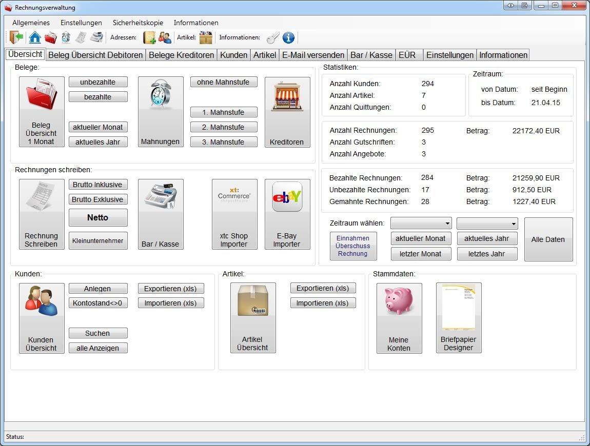 Rechnungsprogramm Fur Handwerker Kleinunternehmer Geeignet Int3rnet Shop