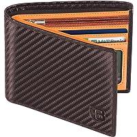 Portefeuille Homme, BIAL Blocage RFID NFC Porte Monnaie Homme Cuir avec 8 Fentes Cartes De Crédit 2 Fenêtres D'identité…