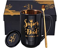 Dad Birthday Gifts Father Day Gifts for Dad from Daughter Son Christmas New Year Thanksgiving Day Presents 18OZ Ceramic Coffe