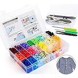 ilauke 400pcs Bouton Pressions Plastiques T5 12mm 20 Coloris + Kit de Pince en Métal avec 2 Rangement de Boîte (10pcs Clip Pi