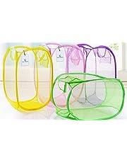Kuber Industries Nylon  Mesh Laundry Basket