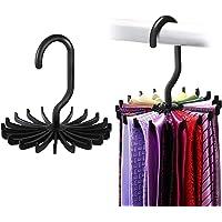 [2 Pièces] Ipow Porte-cravate Pivote à 360° Organisateur 20 Crochets Pour cravates, foulards, châles, ceintures et…