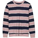 Lars Amadeus Men's Striped Pullover Crew Neck Long Sleeves Color Block Sweatshirt T-Shirt