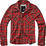Brandit Checkshirt Men Flanel Shirt Black-Charcoal, Regular